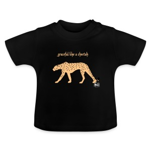 graceful like a cheetah -  FrauenPullover Frontd - Baby T-Shirt