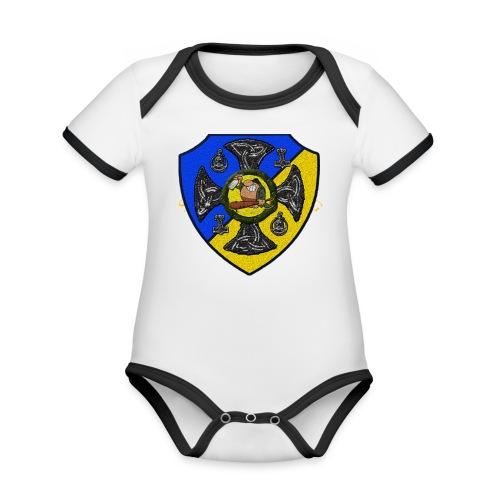 Sv Musmatta - Ekologisk kontrastfärgad kortärmad babybody