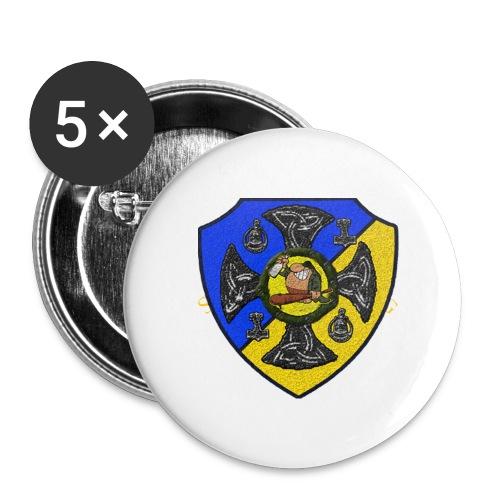Sv Musmatta - Mellanstora knappar 32 mm