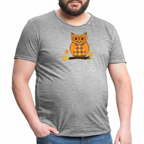 Einkaufstasche mit Eule - Männer Vintage T-Shirt