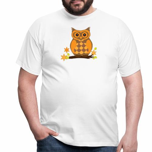 Einkaufstasche mit Eule - Männer T-Shirt
