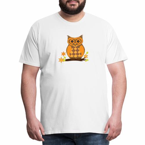 Einkaufstasche mit Eule - Männer Premium T-Shirt