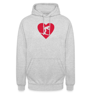 I love Skiing T-Shirt  (Weiß/Damen) - Unisex Hoodie