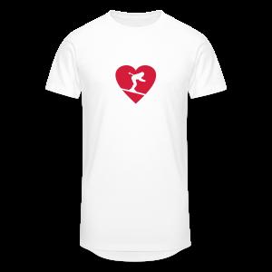 I love Skiing T-Shirt  (Weiß/Damen) - Männer Urban Longshirt