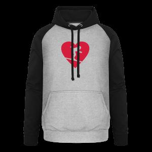 I love Skiing T-Shirt  (Weiß/Damen) - Unisex Baseball Hoodie