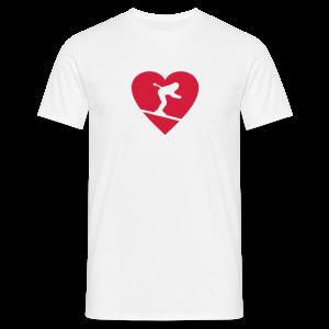 I love Skiing T-Shirt  (Weiß/Damen) - Männer T-Shirt