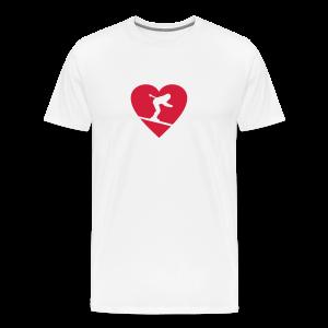 I love Skiing T-Shirt  (Weiß/Damen) - Männer Premium T-Shirt