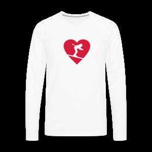 I love Skiing T-Shirt  (Weiß/Damen) - Männer Premium Langarmshirt