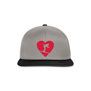 I love Skiing T-Shirt  (Weiß/Damen) - Snapback Cap