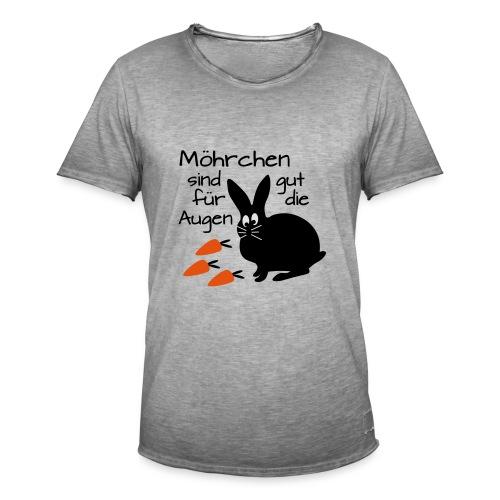 Möhrchen Sind Gut Für Die Augen - Männer Vintage T-Shirt