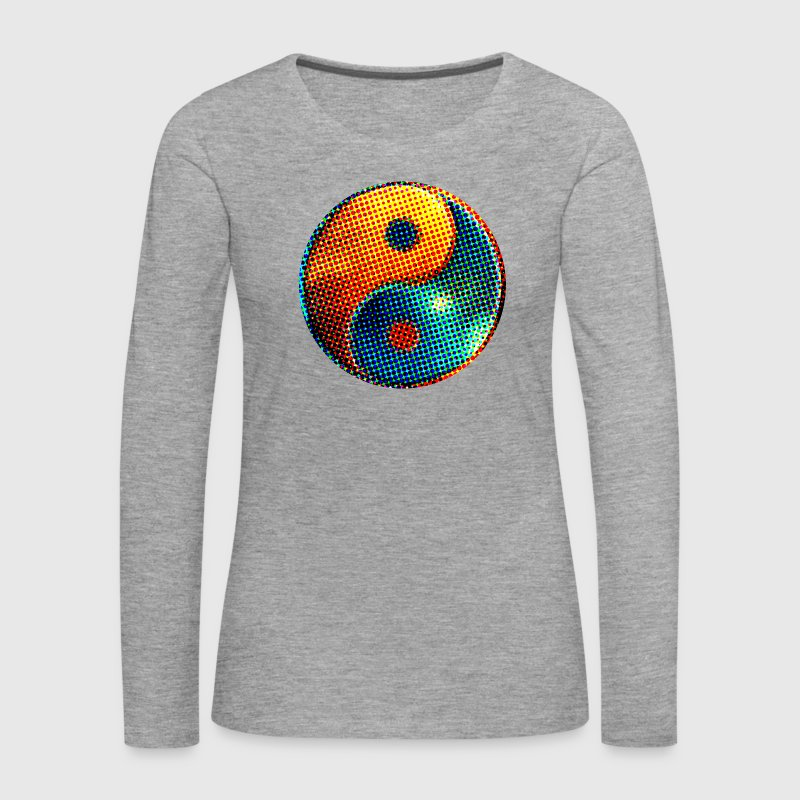 Yin Yang Dots, space, cosmos, universe, galaxy, points Manches longues - T-shirt manches longues Premium Femme