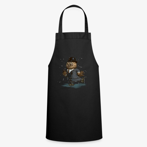 Ice skating owl - Cooking Apron