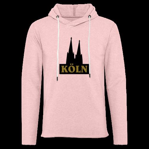 Köln Logo mit Kölner Dom (S/W) - Leichtes Kapuzensweatshirt Unisex