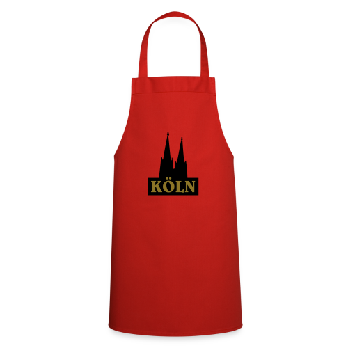 Köln Logo mit Kölner Dom (S/W) - Kochschürze