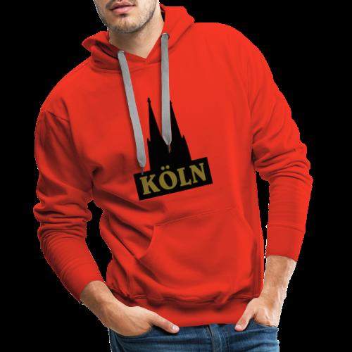 Köln Logo mit Kölner Dom (S/W) - Männer Premium Hoodie