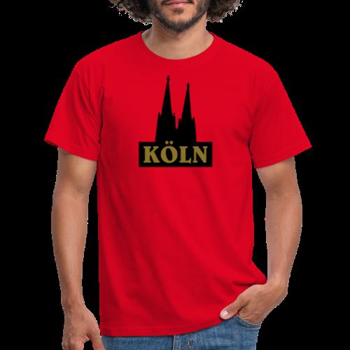 Köln Logo mit Kölner Dom (S/W) - Männer T-Shirt