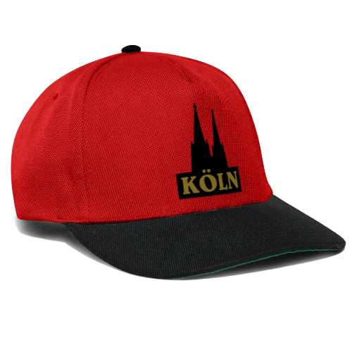 Köln Logo mit Kölner Dom (S/W) - Snapback Cap