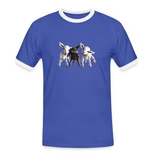freche schafe - Männer Kontrast-T-Shirt