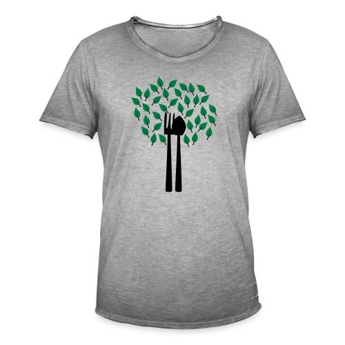 Gärtnerbaum   Gartenmotiv - Männer Vintage T-Shirt