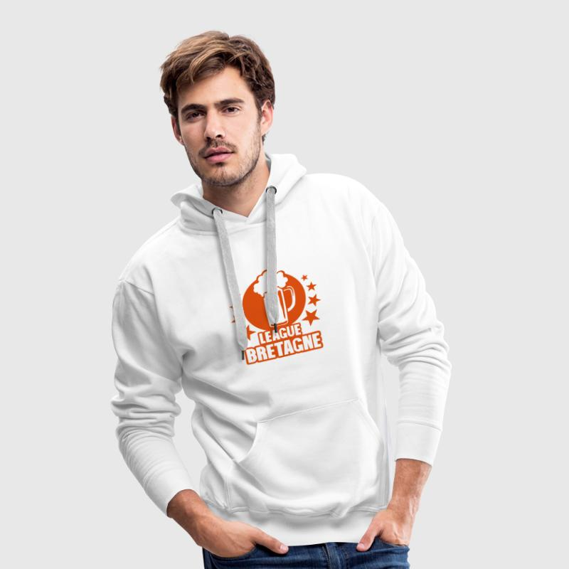 bretagne league biere alcool humour logo Sweat-shirts - Sweat-shirt à capuche Premium pour hommes