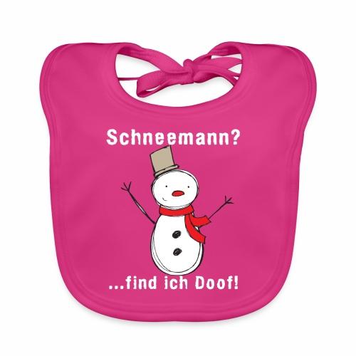 Schneemann Damen Shirt - Baby Bio-Lätzchen