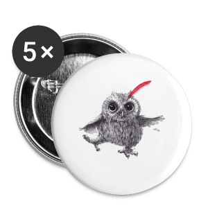Chief Red - Happy Owl - Buttons groß 56 mm