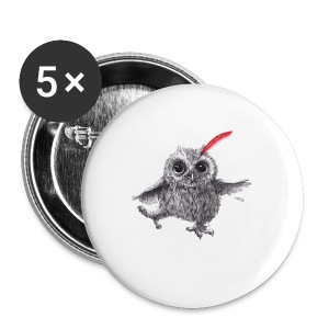 Chief Red - Happy Owl - Buttons mittel 32 mm