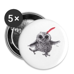 Chief Red - Happy Owl - Buttons klein 25 mm