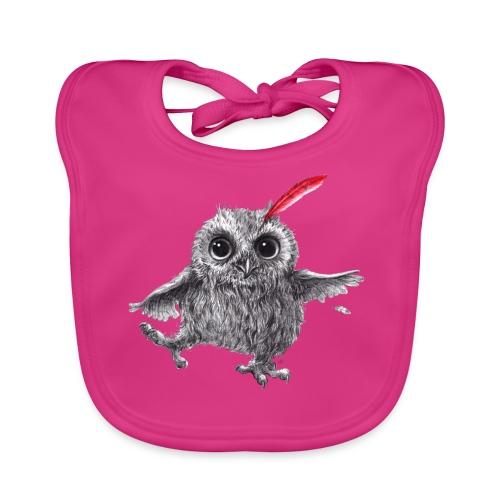 Chief Red - Happy Owl - Baby Bio-Lätzchen
