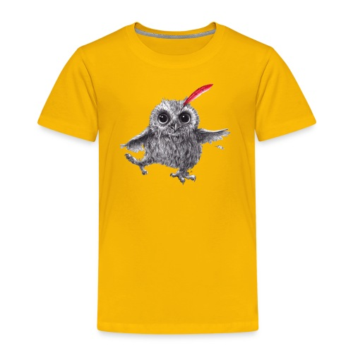 Chief Red - Happy Owl - Kinder Premium T-Shirt