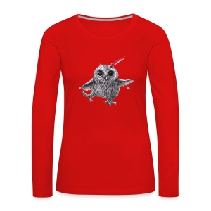 Chief Red - Happy Owl - Frauen Premium Langarmshirt
