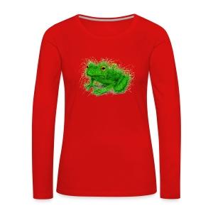 Grasfrosch - Frauen Premium Langarmshirt