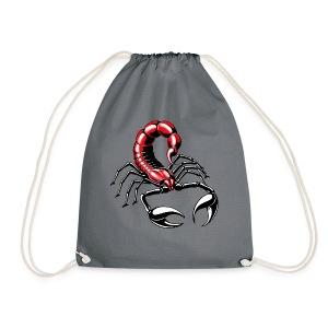 Skorpion - rot - Turnbeutel