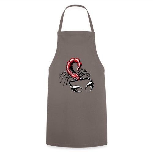 Skorpion - rot - Kochschürze