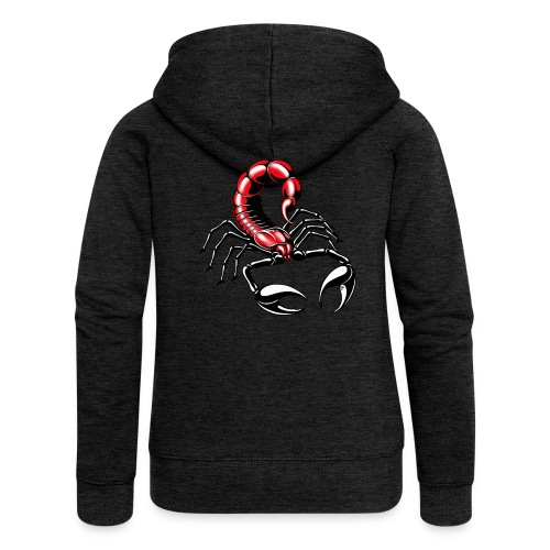 Skorpion - rot - Frauen Premium Kapuzenjacke