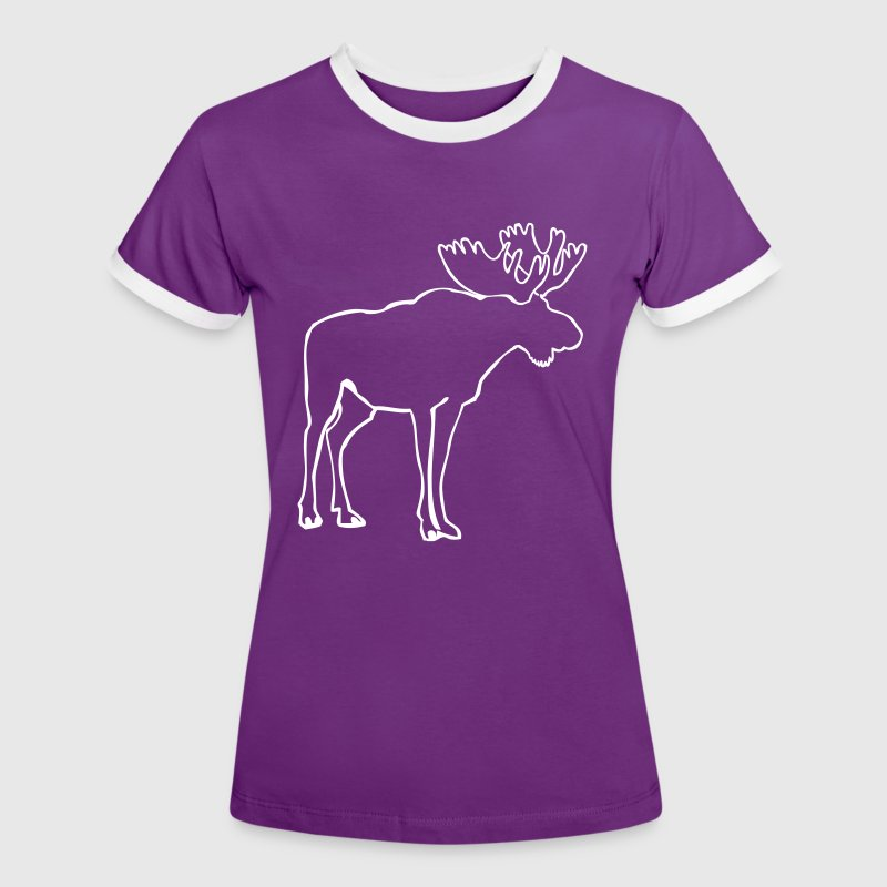 Moose T-Shirts - Women's Ringer T-Shirt