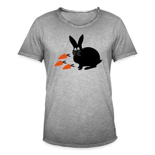 Hase mit Möhrchen   Tierische Motive - Männer Vintage T-Shirt