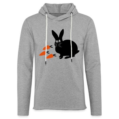 Hase mit Möhrchen   Tierische Motive - Leichtes Kapuzensweatshirt Unisex