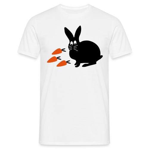 Hase mit Möhrchen   Tierische Motive - Männer T-Shirt