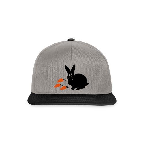 Hase mit Möhrchen   Tierische Motive - Snapback Cap