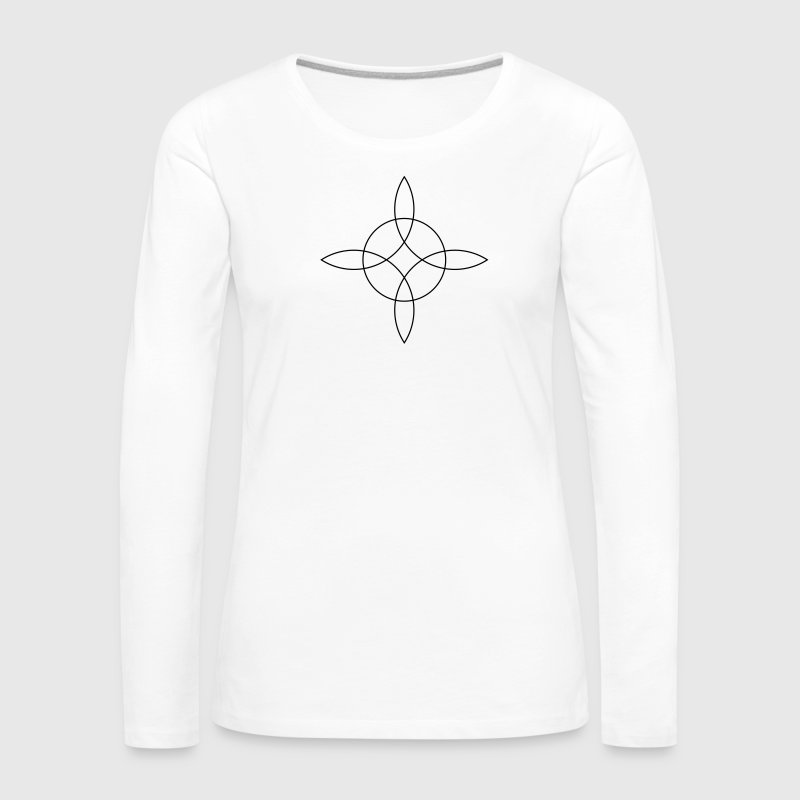 Witch`s Knot - Binds the 4 elements, Magical Rune  - Women's Premium Longsleeve Shirt