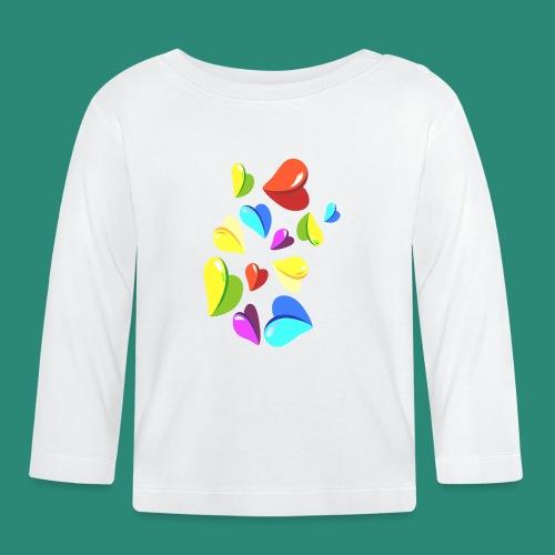 Herzen T- Shirt - Baby Langarmshirt