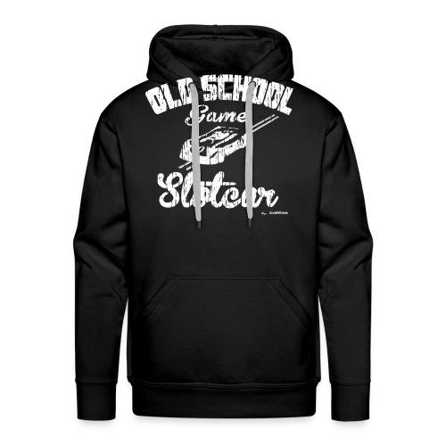 Oldschool game slotcar - Sweat-shirt à capuche Premium pour hommes