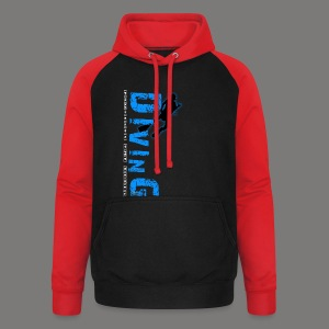 Diving - protects the reefs - Unisex Baseball Hoodie