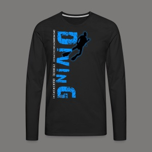 Diving - protects the reefs - Männer Premium Langarmshirt