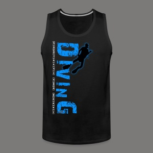 Diving - protects the reefs - Männer Premium Tank Top