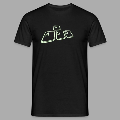 WASD Shirt - Flexdruck Silber - Männer T-Shirt