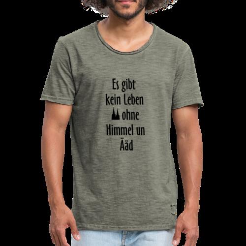 Kein Leben ohne Himmel un Ääd Köln T-Shirt (Damen Rot/Weiß) - Männer Vintage T-Shirt