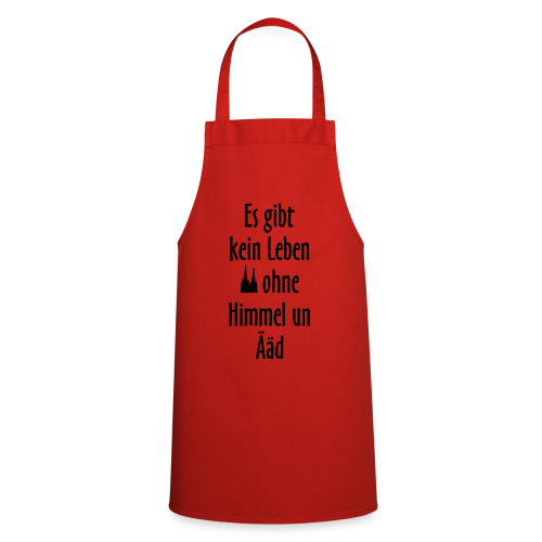Kein Leben ohne Himmel un Ääd Köln T-Shirt (Damen Rot/Weiß) - Kochschürze