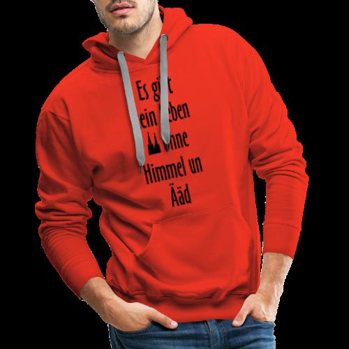 Kein Leben ohne Himmel un Ääd Köln T-Shirt (Damen Rot/Weiß) - Männer Premium Hoodie